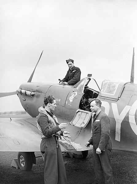 446px-A_Czech_Spitfire_pilot_of_No._313_Squadron_in_conversation_with_his_rigger_and_fitter_at_Hornchurch,_8_April_1942._CH17971
